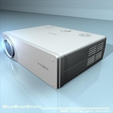 projektors 3d modelis 3ds dxf c4d obj 109936