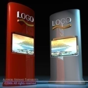 reklāmas ekrānu tornis 3d modelis 3ds citi obj 78889