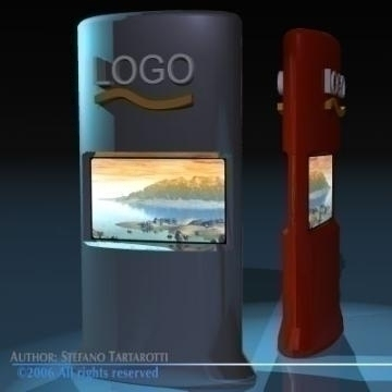 promo screens tower 3d model 3ds other obj 78891