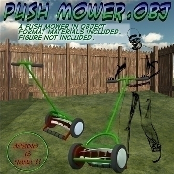 push mower.obj 3d model obj 105372