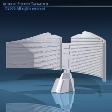 radar 3d modeli 3ds dxf obj 78856