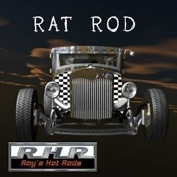 rat rod coupe 3d model lwo obj 81941