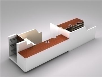 register checkout counter assembly 3d model 3ds max 101263