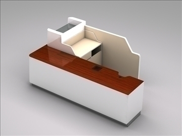 register checkout counter assembly 3d model 3ds max 101267