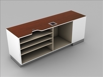 register checkout counter assembly 3d model 3ds max 101269