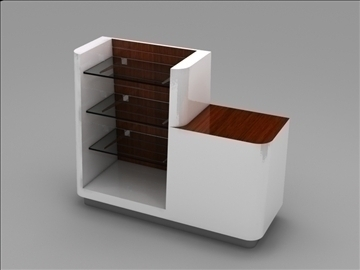 register checkout counter assembly 3d model 3ds max 101271