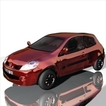 renault clio 3d model 3ds max obj 111512