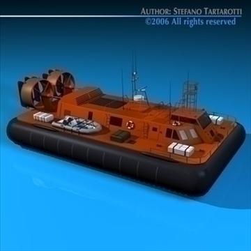 rescue hovercraft 3d model 3ds dxf c4d obj 82969