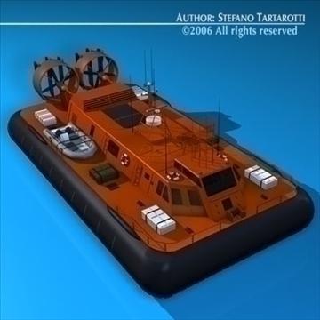 rescue hovercraft 3d model 3ds dxf c4d obj 82970