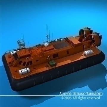 rescue hovercraft 3d model 3ds dxf c4d obj 82971