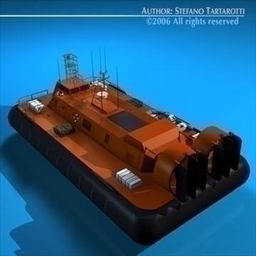 rescue hovercraft 3d model 3ds dxf c4d obj 82972