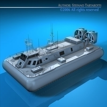 rescue hovercraft 3d model 3ds dxf c4d obj 82973