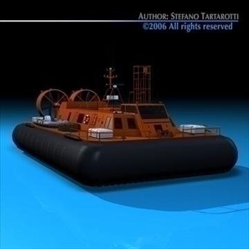 rescue hovercraft 3d model 3ds dxf c4d obj 82974