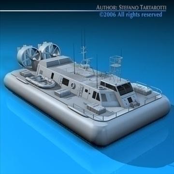 rescue hovercraft 3d model 3ds dxf c4d obj 82975