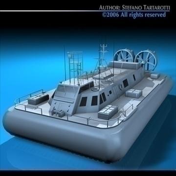 rescue hovercraft 3d model 3ds dxf c4d obj 82976