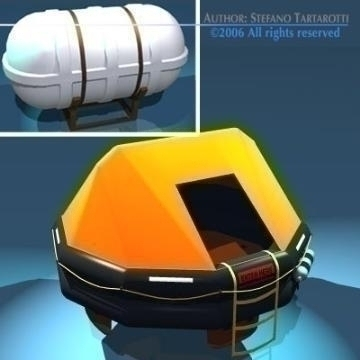 rescue liferaft set 3d model 3ds dxf obj other 78251