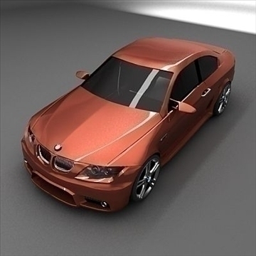 restyled BMW kupe 3d model 3ds max obj 102389