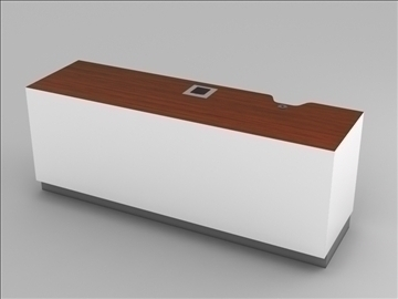 retail checkout counter subassembly 3d model 3ds max 101273