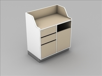 retail checkout register cabinet subassembly 3d model 3ds max 101278
