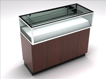 retail showcase counter 4 3d model 3ds max 100763