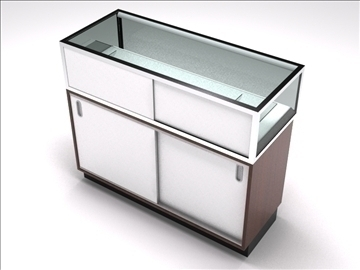 retail showcase counter 4 3d model 3ds max 100764