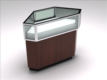 retail showcase kiosk 4 3d model 3ds max 100765