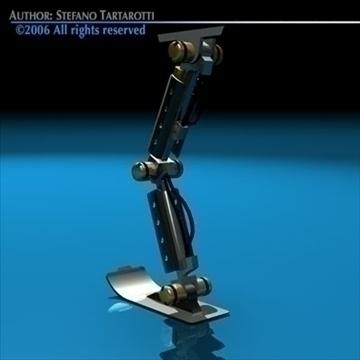 robot leg 3d model 3ds dxf c4d obj 81434
