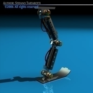 robot leg 3d model 3ds dxf c4d obj 81438