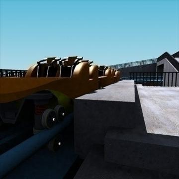 rollercoaster model 3d max 79310