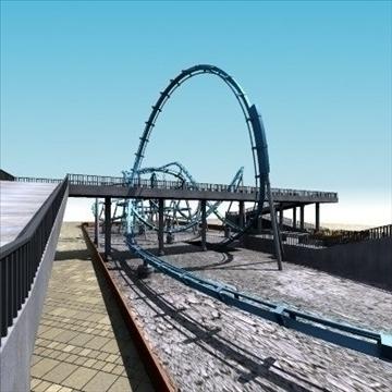 rollercoaster model 3d max 79311
