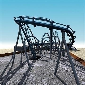 rollercoaster model 3d max 79312