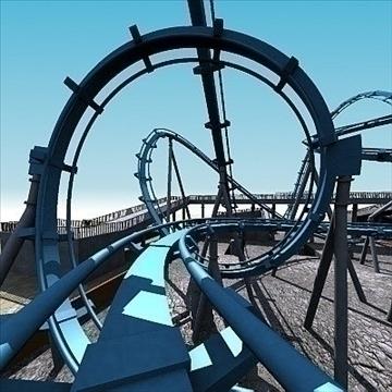 rollercoaster model 3d max 79313