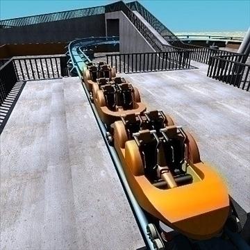 rollercoaster model 3d max 79314
