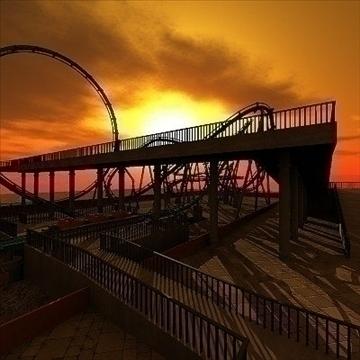 rollercoaster model 3d max 79315