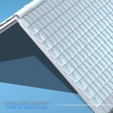 roof tiles 3d model 3ds dxf other obj 78590