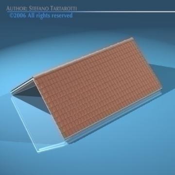 roof tiles 3d model 3ds dxf other obj 78592