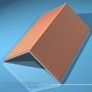 roof tiles 3d model 3ds dxf other obj 78595