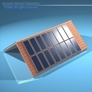 roof with solar panels 3d model 3ds dxf obj 81061