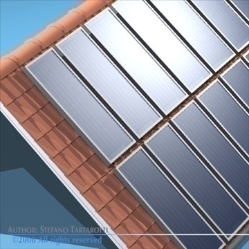 roof with solar panels 3d model 3ds dxf obj 81062