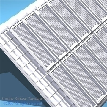 roof with solar panels 3d model 3ds dxf obj 81065