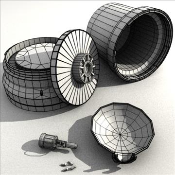 rotating beacon 3d model 3ds blend obj 104092