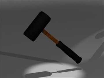 rubber mallet 3d model 3ds 81239