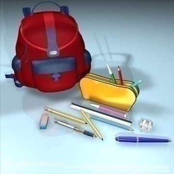 school tools 3d model 3ds dxf c4d obj 94080
