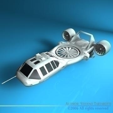 sci-fi vstol vehicle 3d model 3ds c4d obj 77719