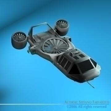 sci-fi vstol vehicle 3d model 3ds c4d obj 77726