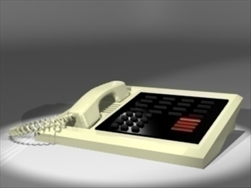 secretary phone 3d model 3ds dxf lwo 81133