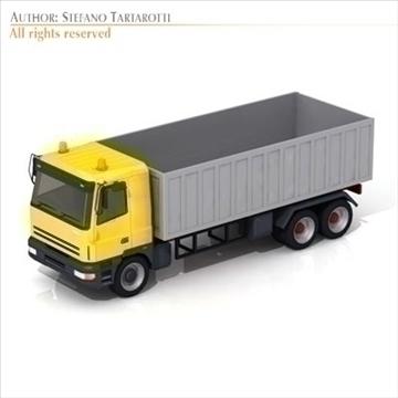 semi trailer truck 3d model flatpyramid