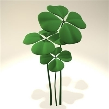 shamrock.zip model 3d 3ds dxf fbx c4d obj eraill 82653