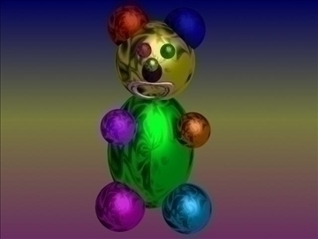 shining bear 3d model 3ds 81991