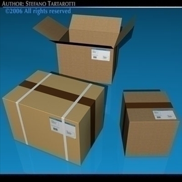 shipping boxes 3d model 3ds dxf c4d obj 82476
